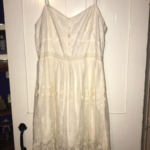 American eagle - cream summer dress